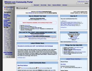 wdportal.wikidot.com screenshot