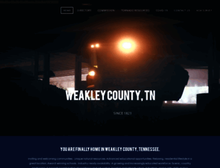 weakleycountytn.gov screenshot