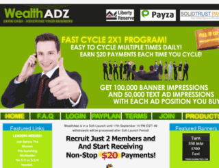 wealthadz.com screenshot