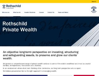 wealthmanagementandtrust.rothschild.com screenshot