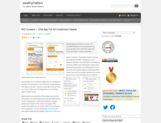 wealthymatters.wordpress.com screenshot