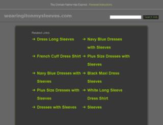 wearingitonmysleeves.com screenshot