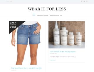 wearitforless.com screenshot