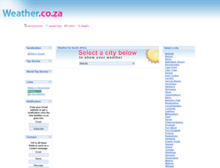 weather.co.za screenshot