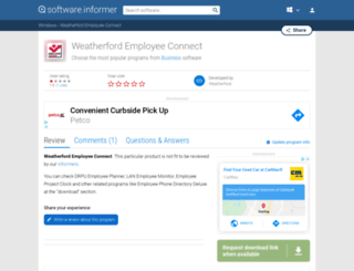 weatherford-employee-connect.software.informer.com screenshot