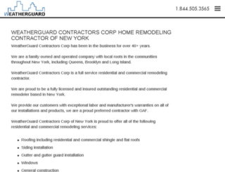weatherguardcontractors.com screenshot