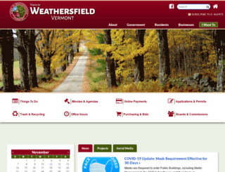 weathersfieldvt.org screenshot
