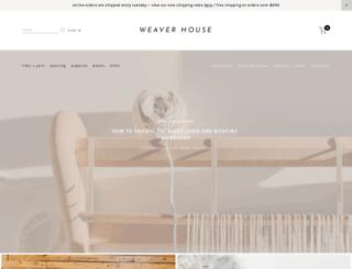 weaverhouseco.com screenshot