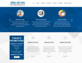 web-active.co.za screenshot