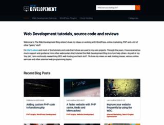 web-development-blog.com screenshot