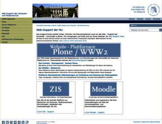 web-support.hu-berlin.de screenshot