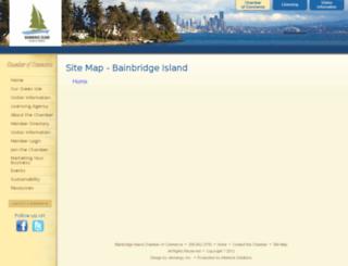 web.bainbridgechamber.com screenshot