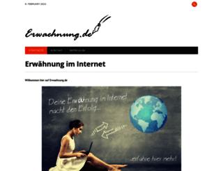 web.erwaehnung.de screenshot