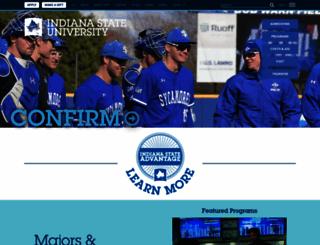web.indstate.edu screenshot