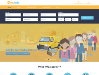 web2ship.com screenshot
