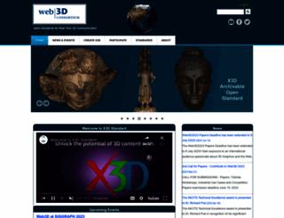 web3d.org screenshot