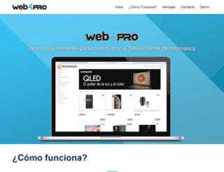 web4pro.es screenshot