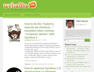 webadio.com screenshot
