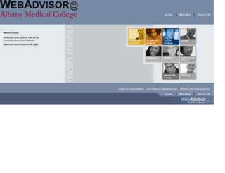 webadvisor.amc.edu screenshot