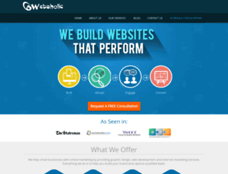 webaholic.co.in screenshot