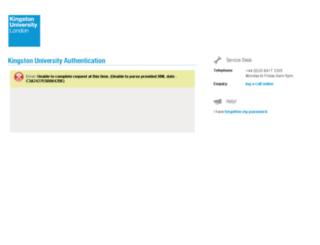 webapps.kingston.ac.uk screenshot