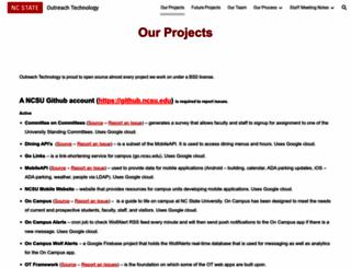 webapps.ncsu.edu screenshot