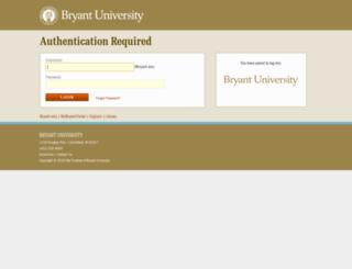 webauth.bryant.edu screenshot