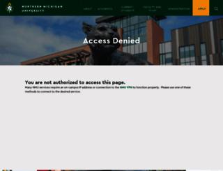 webb.nmu.edu screenshot