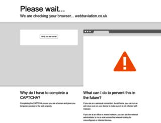 webbaviation.co.uk screenshot