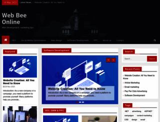 webbeeonline.com screenshot
