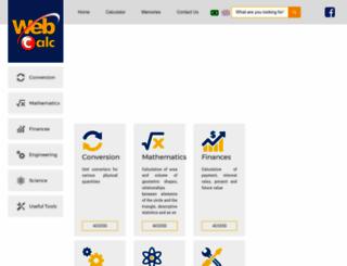 webcalc.com.br screenshot