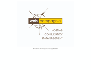 webcompagnie.be screenshot