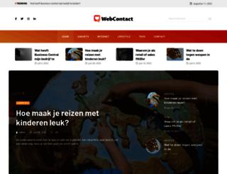 webcontact.be screenshot
