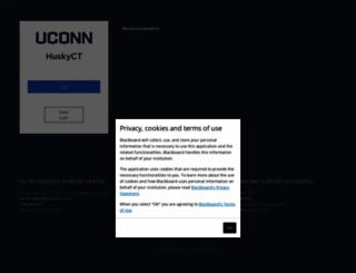 webct.uconn.edu screenshot