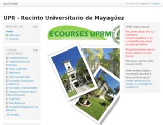 webct.uprm.edu screenshot