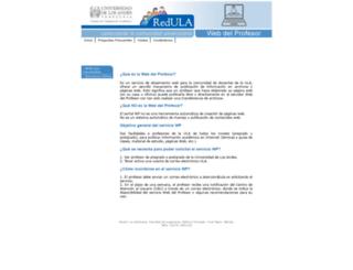 webdelprofesor.ula.ve screenshot