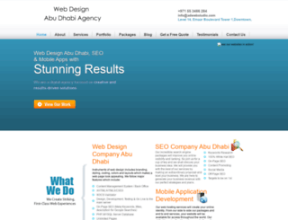 webdesignabudhabiagency.com screenshot