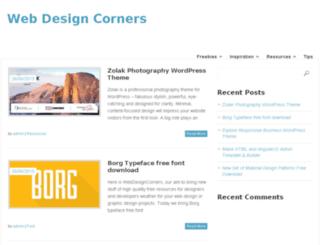 webdesigncorners.com screenshot