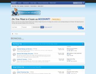 webdesignforums.net screenshot
