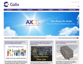 webdev3.calix.com screenshot