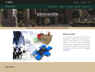 webdgrms.sep.gob.mx screenshot
