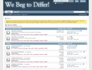 webegtodiffer.com screenshot