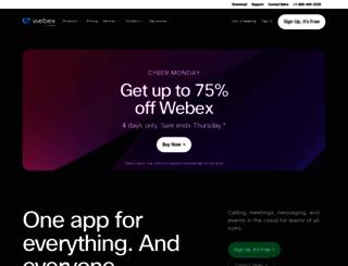 webex.co.uk screenshot