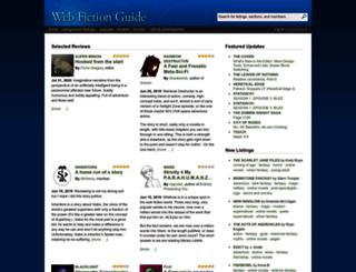 webfictionguide.com screenshot
