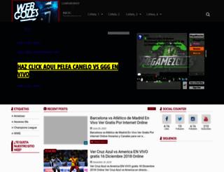 webgoles.tv screenshot