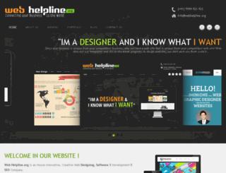 webhelpline.org screenshot