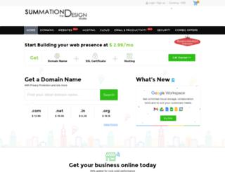 webhosting.summationdesignstudio.com screenshot