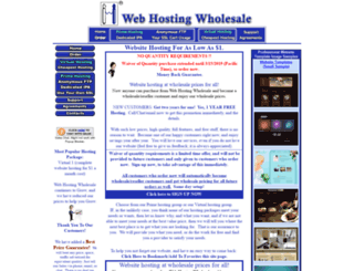 webhostingwholesale.com screenshot