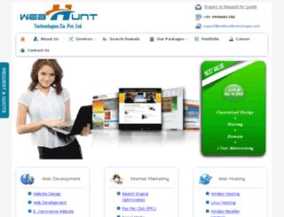 webhunttechnologies.com screenshot