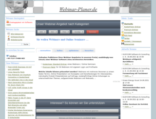webinar-planer.de screenshot